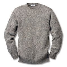 Inis Meáin Donegal Pullover Grey mix   Sweaters #men's