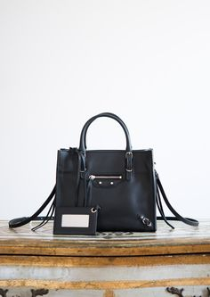 Sac Papier Mini Zip Around Noir #Balenciaga