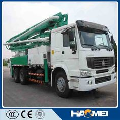 concrete pump truck http://www.haomeibatchingplant.com/hm-concrete-pump/HDT5401THB-48/52_Concrete_Pump.html