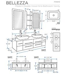 Vanity Sink Sizes - There is A sink also called Basin and is generally shaped. Bathroom Vanity Sizes, Bathroom Plans, Vessel Sink Bathroom, Bathroom Vanity Cabinets, Bathroom Doors, Bathroom Layout, Vanity Sink, Bathroom Faucets, Bathroom Designs
