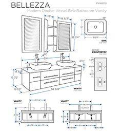 Bathroom Vanity Sizes, Bathroom Plans, Vessel Sink Bathroom, Bathroom Vanity Cabinets, Bathroom Layout, Bathroom Faucets, Small Bathroom, Bathroom Designs, Budget Bathroom