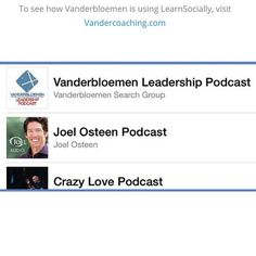 "We love our partners! Recently one of our LearnSocially partners Vanderbloemen Search Group released their first podcast into the wild! It took a lot of promotion and hard work but they reached the number one spot in their genre over some extremely popular podcasts!  We want to say ""Congratulations!"" to Vanderbloemen on reaching number one on their first podcast ever! Keep it up!  To see how Vanderbloemen is using LearnSocially visit Vandercoaching.com  #vanderbloemen #vandercast #elearning…"