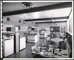 Home ec class.  Mine looked just like this in the 70's!  We really did learn a lot!