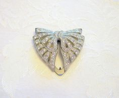 Vintage Dress Clip Signed Goody Rhinestone by VintageStreet, $25.00