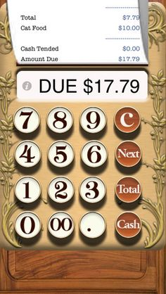 "A simple toy cash register designed for children. The most basic of toys. It does nothing but show numbers and make noises, like a cash register toy should. Enter amounts, click ""Next"" to see them on the receipt. Total to see your total. Press ""Cash"" to open the Cash Drawer and play with Money. To Clear the receipt you must enter an amount greater than the total and hit ""Cash"" ‐‐ Then you will start with a new receipt"