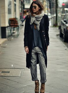 Ankle is the new cleavage, as Maja Wyh shows here. #winterstyling #fashion