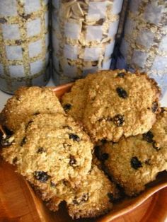 Ciasteczka owsiane z rodzynkami i sezamem
