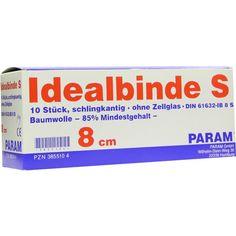 IDEALBINDE 8 cm m.Schlingkante o.Cell:   Packungsinhalt: 10 St Binden PZN: 03855104 Hersteller: Param GmbH Preis: 32,86 EUR inkl. 19 %…
