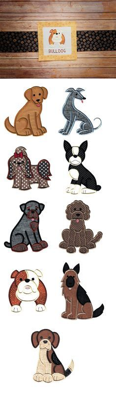 Top Dogs Applique Set 2 design set is available for instant download at designsbyjuju.com