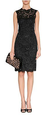 BlackLaceDressbyVALENTINO | Luxury fashion online | STYLEBOP.com