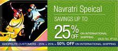 #Navratri Specal Saving #Offer Upto 25% OFF On international Shipping  http://ishopinternational.com/