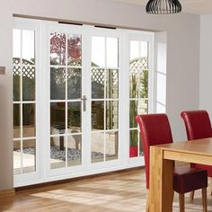 Nuvu White 8 Pane Exterior French Doors with Side Frame Right