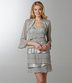 S.L. Fashions Bolero Jacket Dress | Dillards.com 03726295