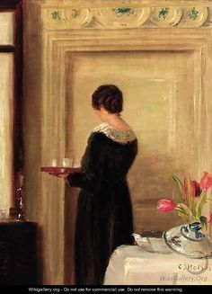 Carl Vilhelm Holsoe - Afternoon tea
