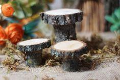Mini Bistro Set, Fairy Garden Cottage, Miniature Garden, Fairy Garden Supply, enchanted forest, whimsical garden, enchanted garden, Log - GFT Woodcraft
