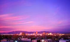 Albuquerque skyline at sunset