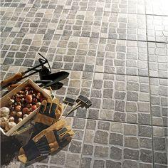 Carrelage ext rieur toscane en gr s c rame maill gris for Carrelage etincelant