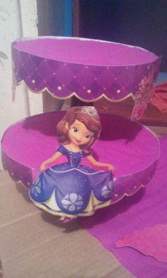 Porta cupcake de  Princesa Sofía