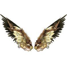 A single steam punk clockwork wing Badass Tattoos, Body Art Tattoos, Steampunk Clothing, Steampunk Fashion, Phenix Tattoo, Wings Drawing, Angel Aesthetic, Bee Tattoo, Wings Design