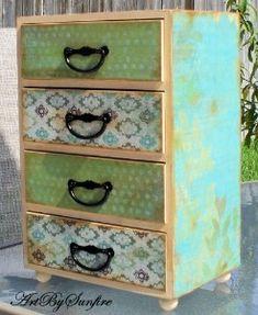 shabby chic jewelry box beachy furniture
