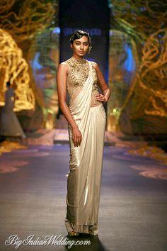 Gaurav Gupta designer stitched saree