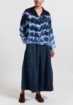 "Gilda Midani Silk Satin ""Cupula"" Shirt in Blue Ray | Santa Fe Dry Goods . Workshop . Wild Life Santa Fe Dry Goods, Santa Fe Trail, Chic Clothing, Point Collar, Wild Life, Silk Satin, Silk Fabric, Chic Outfits, Color Combinations"