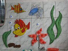 Вот так выглядит мой аквариум на стенке в детском садике! фото 2