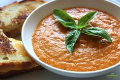 Organic Roasted Tomato Soup Recipe {Gluten Free, Grain Free and Paleo}