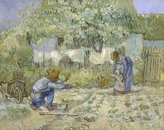 """Van Gogh, """"First Steps"""". I've never seen this painting, how beautiful it is."""