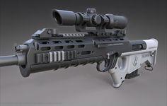 """ArtStation - Quicksilver Industries: """"Wildebeest"""" Rifle / DMR & SR, Christian Groß #Rifle"""