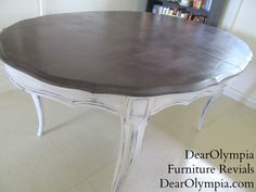 French Shabby Chic Dining Room Table *For Sale in Oahu* | Shabby Chic | French Country | CeCe Caldwell | Virginia Chesnut | Antique White | CeCe Caldwell's Chalk and Clay Paint
