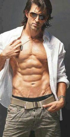 Hrithik Roshan _All time Favorite :) Male Fitness Models, Male Models, E Book, Poses For Men, Hommes Sexy, Hrithik Roshan, Bollywood Actors, Good Looking Men, Muscle Men