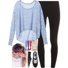 A fashion look from August 2015 featuring Victoria's Secret sweaters, Splendid leggings and Vans sneakers. Browse and shop related looks.
