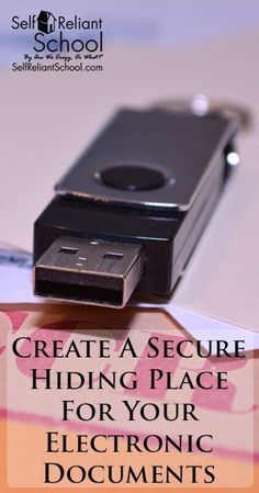 Secure Hiding Place For Electronic Documents How to create a secure hiding place for your important documents, that no one even knows is there!How to create a secure hiding place for your important documents, that no one even knows is there! Doomsday Prepping, Survival Prepping, Emergency Preparedness, Survival Skills, Secret Hiding Places, Emergency Preparation, Emergency Planning, Personal Security, Things To Know