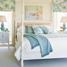 Figure Eight Island, North Carolina, bedroom | Coastalliving.com