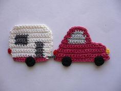 Wohnwagengespann  - Häkelapplikation von Spielkiste auf DaWanda.com