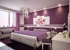 Interior Kamar Tidur Rumah Minimalis Cat Warna Ungu Yang Cantik | rumah-minimalis.web.id