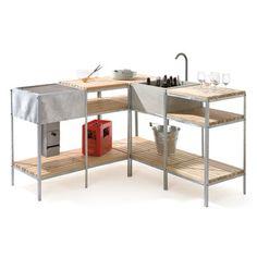 Regal-Modul. 3 Holzauflagen | Grillen und Kochen