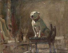 Alfred J. Munnings  A Bull Terrier Named Weller  First half 20th century