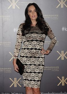 Finally starting to show: Tamara Ecclestone shows off her small baby bump in bodycon dress at Kardashian fashion party