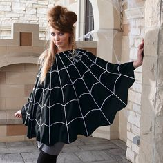 Spider Web Poncho - Diy super preggo costume option.. I'm not pregnant but  would be cute  since my son is going to be a spider
