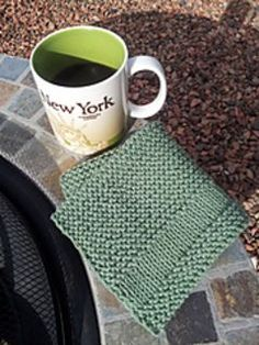 Knit dishcloth pattern- Could be easily expanded to a placemat