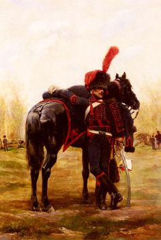 Artillerie a cheval de la Garde Imperiale (Mounted Artillery of the Imperial Guard) reproduction by Jean Baptiste Edouard Detaille Military Art, Military History, Military Uniforms, Edouard Detaille, French Pictures, French Army, Napoleonic Wars, Paintings, Period