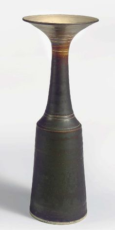 Lucie Rie / porcelain composite bottle, 1960