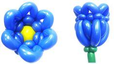 Цветок колокольчик из воздушных шаров
