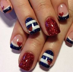 FOURTH OF JULY NAIL ART IDEAS— Part 4