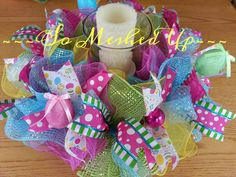 Check out this item in my Etsy shop https://www.etsy.com/listing/222976045/bright-vibrant-easterspring-deco-mesh