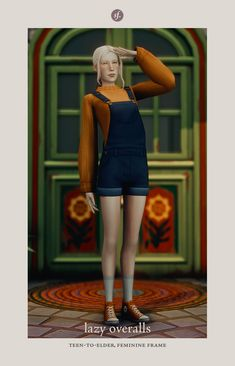 Plumbie's CC FINDS — anvilesi: [TS4] lazy overalls by sforzinda — ...