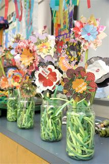 Splish Splash Splatter: Recycled Magazine Flowers