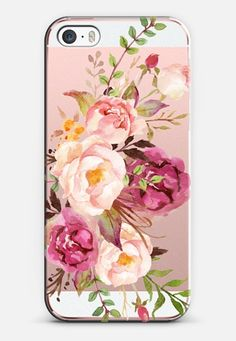 Watercolour Floral Bouquet - Transparent iPhone SE case by Ruby Ridge Studios | Casetify